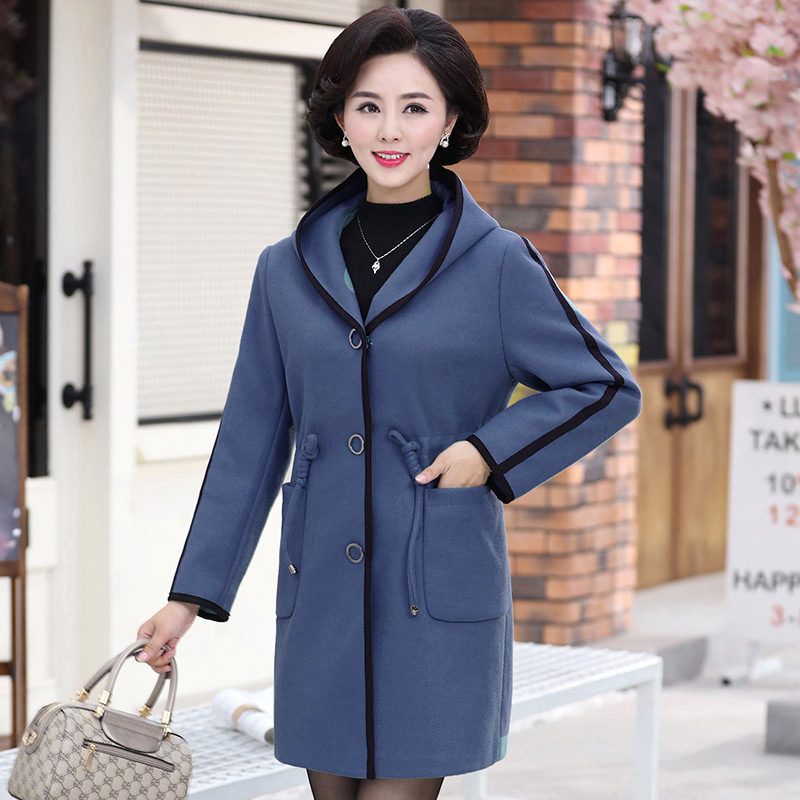中老年女装秋装新款40-50岁大衣
