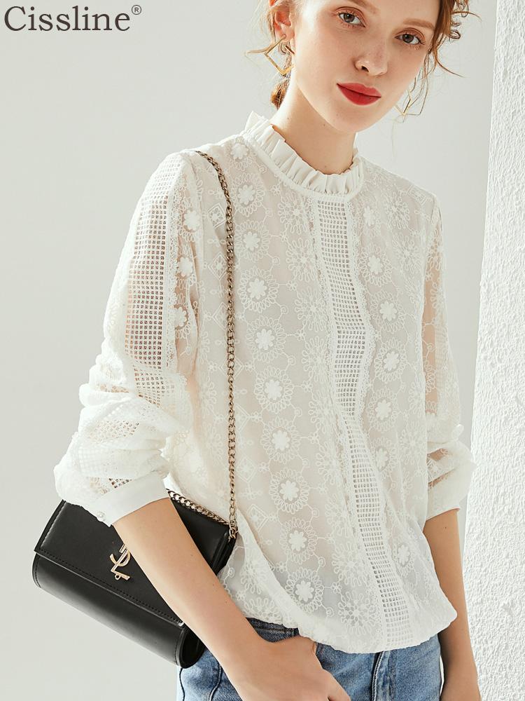 满200元可用10元优惠券白色打底衫真丝衬衫女小众设计感桑蚕丝上衣长袖衬衣秋季新款2019