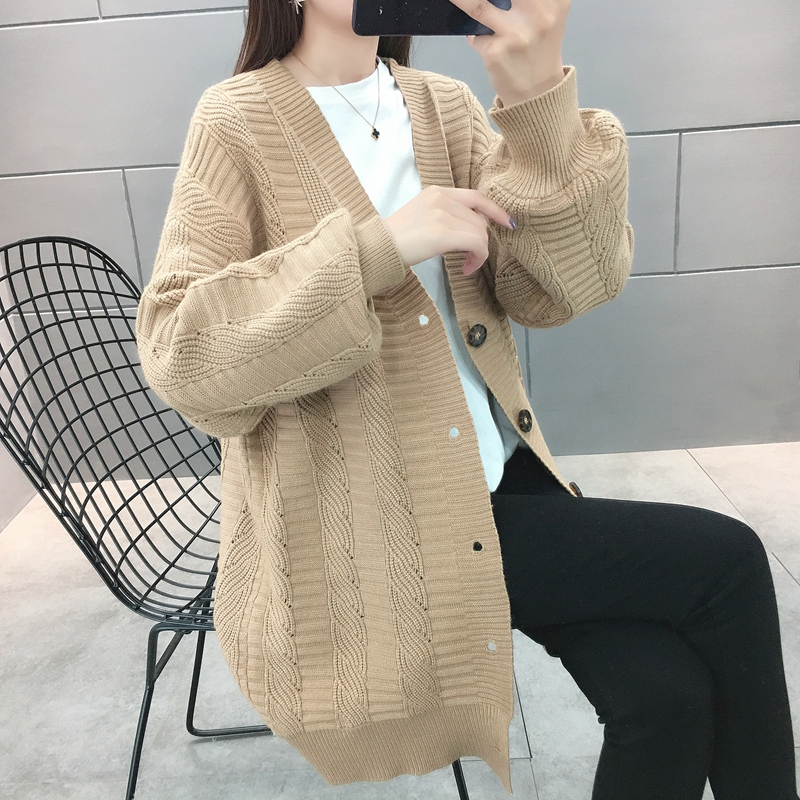 2020 spring and autumn new medium and long sweater for women