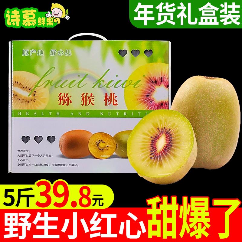 【年货礼盒】四川蒲江红心猕猴桃新鲜奇异果水果整箱24粒毛重5斤