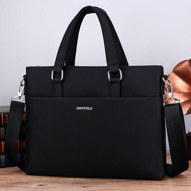 Paul mens bag business handbag Oxford textile briefcase Korean version simple mens canvas waterproof leisure handbag