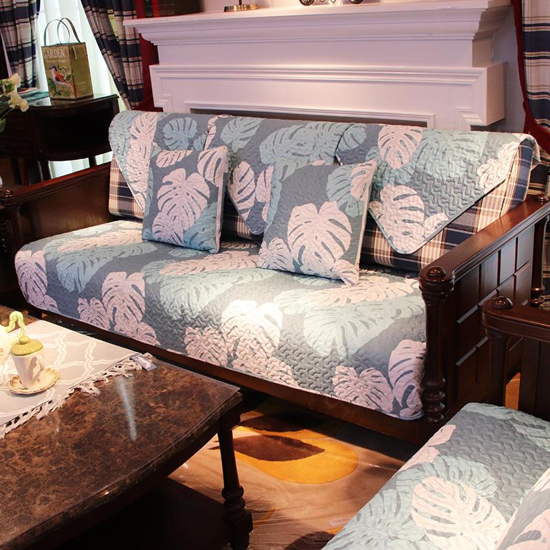 歐式沙發墊四季通用沙發套實木沙發墊子全棉客廳三人座墊套裝組合