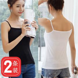 莫代尔小吊带女短款内搭打底衫修身性感背心夏显瘦无袖上衣黑白色图片