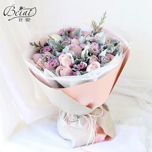 北京市天津同城送花生日鲜花速递花店配送玫瑰百合洋桔梗雏菊花束