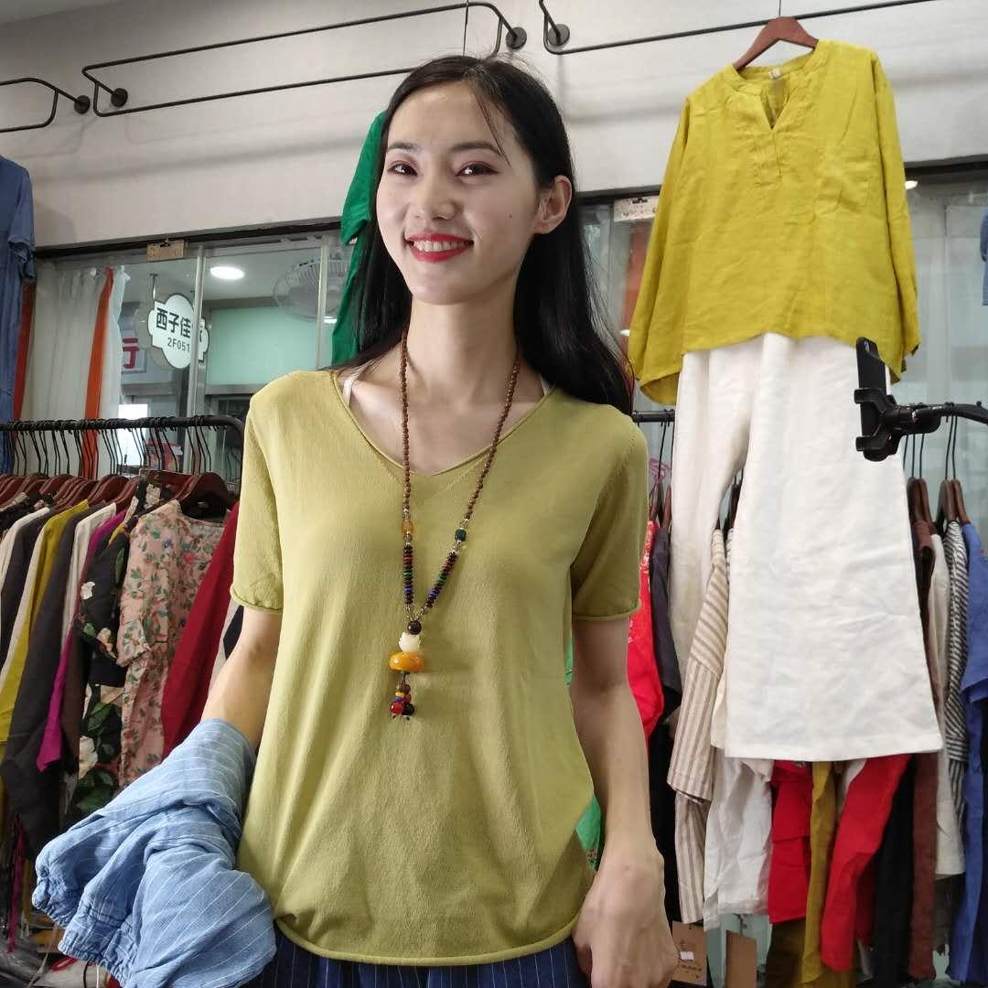 夏季新款女装品质上衣T恤 GGN2F090-SN0726018
