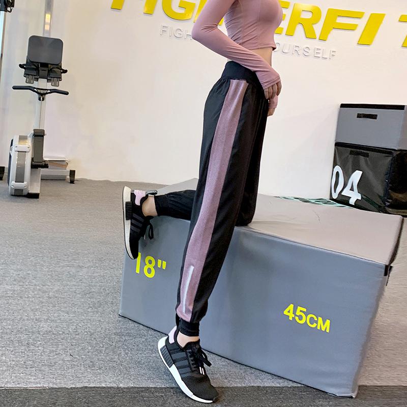 超薄款夏显瘦健身房束脚宽松跑步裤子速干瑜伽裤女健身裤运动长裤