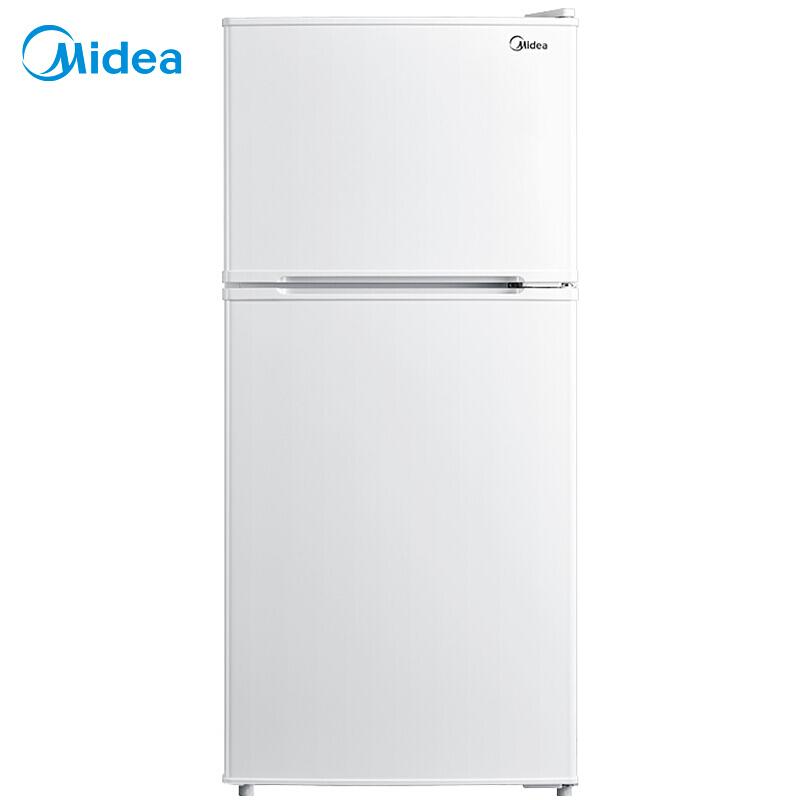 Midea/美的 BCD-112CMB家用双开门小型节能静音租房宿舍电冰箱