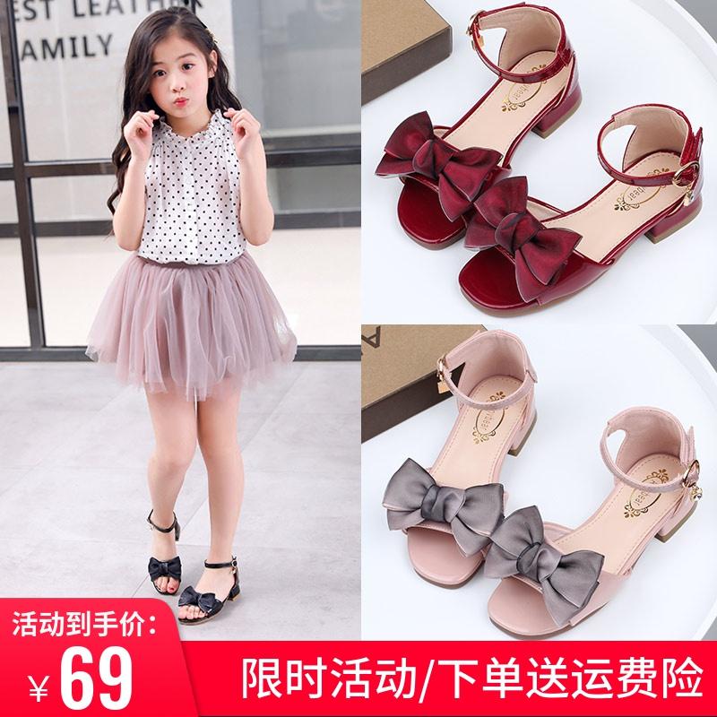 女童凉鞋2020新款时尚儿童演出鞋韩版夏季高跟公主鞋宝宝软底凉鞋