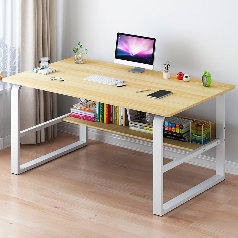 电脑桌台式桌家用简约仿实木书桌办公桌学生写字桌卧室简易小桌子52.00元包邮