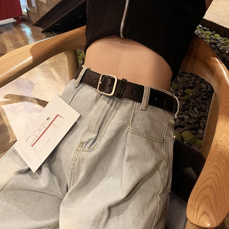 网红小细黑色女士皮带男百搭装饰宽牛仔裤腰带韩版裤带ins风时尚
