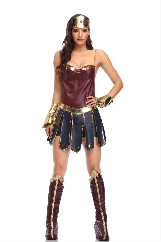 服装角色扮演cosplay英雄联盟角斗士制服士万圣节女欧美神奇女侠