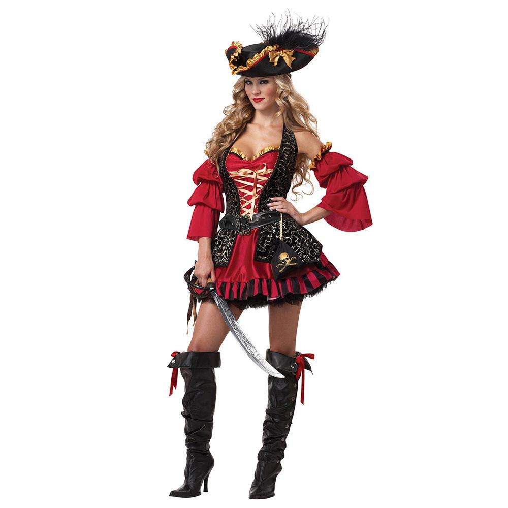 实拍分码海盗服加勒比海盗装万圣节cosplay服装游戏动漫角色扮演