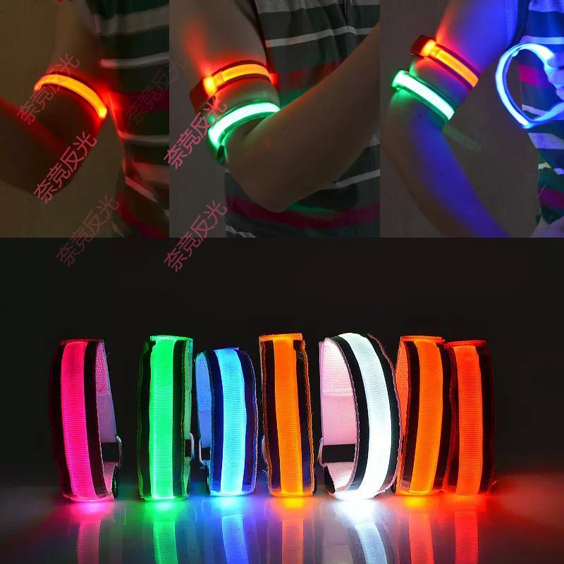 USB charging LED luminous wrist with luminous Bracelet luminous Bracelet flashing Bracelet luminous arm with running equipment
