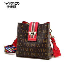 New style of bag ladies'bag in 2009 fashionable wide-band bee bucket bag in autumn and winter with one shoulder bag and oblique Bag tide