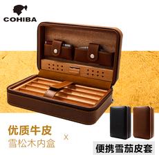 Портсигар чехол кохиба сигары портативный кожаный