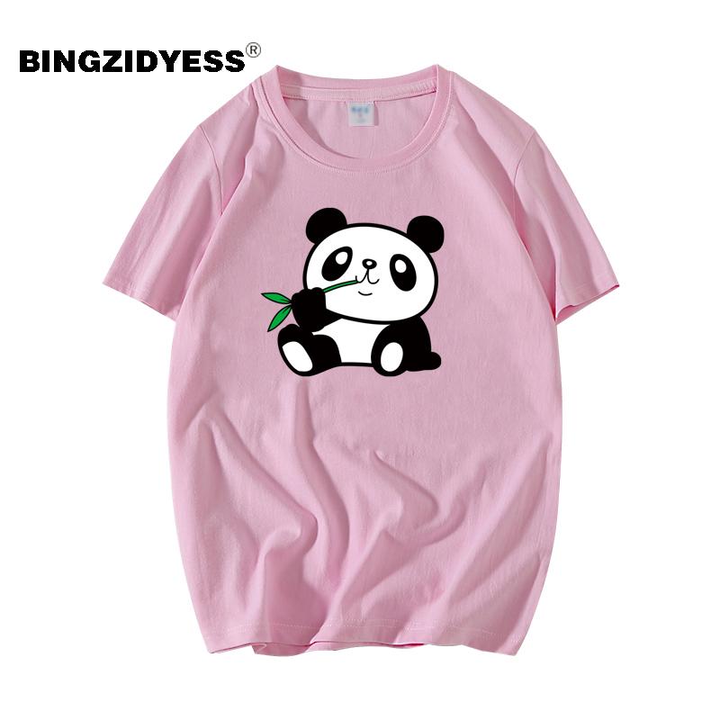 2019新款欧美男士t恤短袖夏季潮牌创意熊猫半袖嘻哈ins日系体恤衫