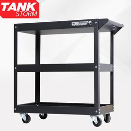 维修工具车移动三层零件车汽修多功能小推车架子层工具柜收纳架