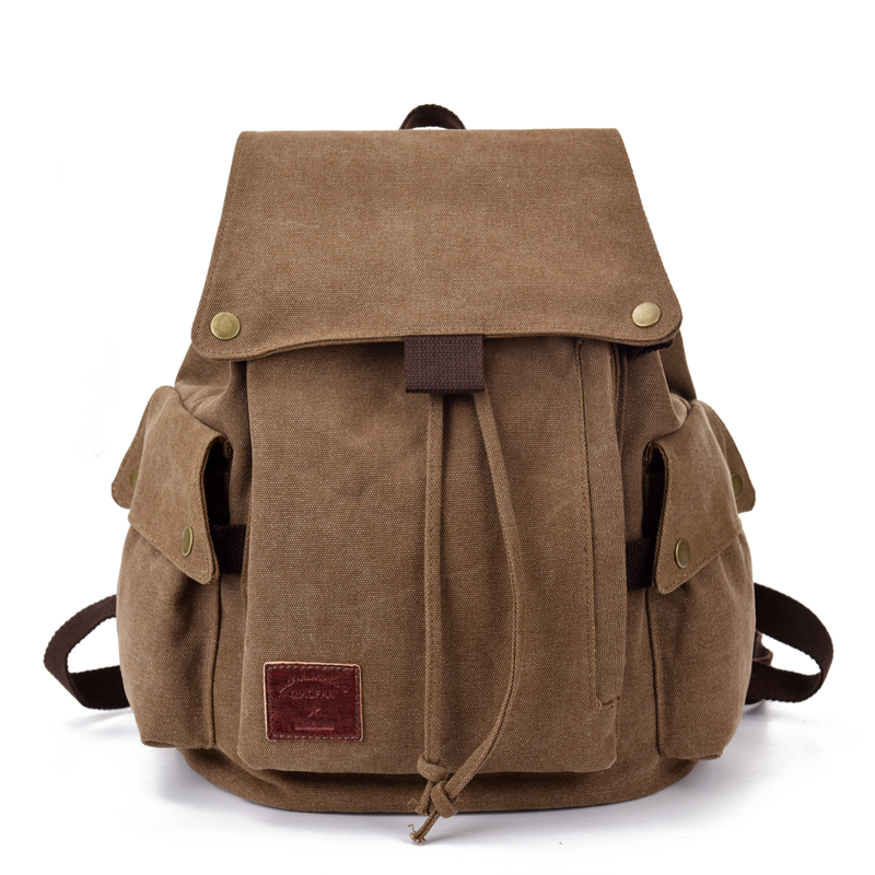 New Korean Canvas Backpack womens leisure retro literature and sports backpack middle school student schoolbag mens bag womens bag