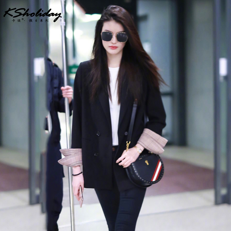 Ks2019 new suit coat womens Korean small suit womens top net red British style super hot womens wear