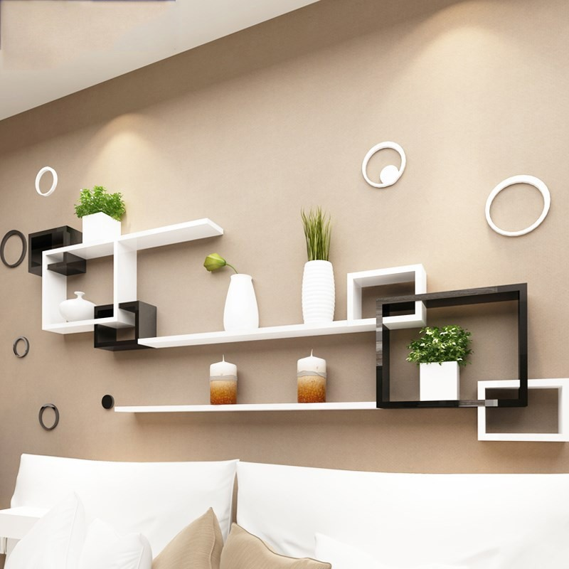 Background corner compound building personality TV wall