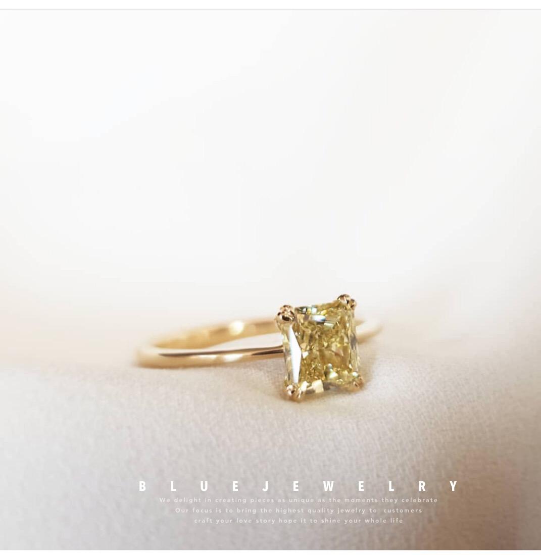 南アフリカの本物のドリルGIAダイヤモンドイエローダイヤモンドの結婚指輪のネックレスを注文しました。
