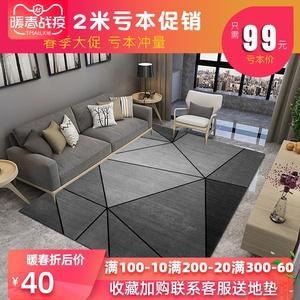 北欧风ins地毯卧室客厅网红同款满铺可爱家用床边茶几大面积地垫