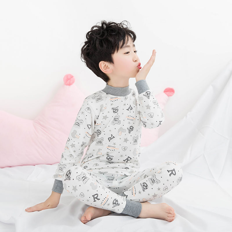 High low cotton sweater collar girl year old cotton autumn pants childrens home clothes SET 17 mens underwear middle-aged children-3 autumn clothes