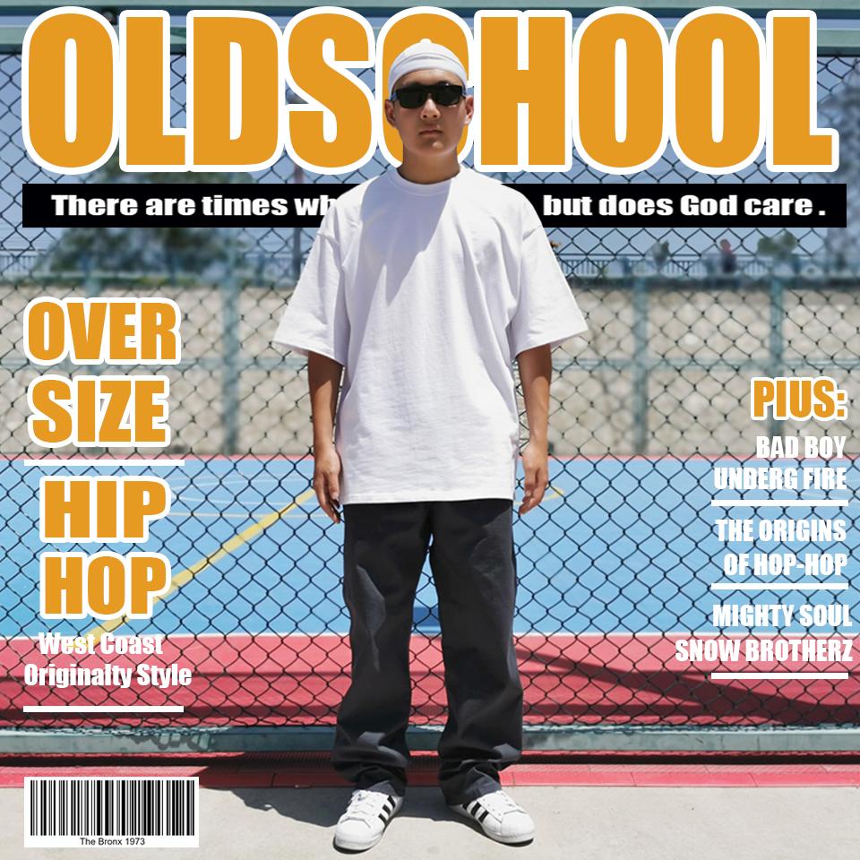 经典OldSchool宽松大码工装长裤抽绳直筒街舞嘻哈滑板Bboy裤子