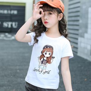 纯棉小学生t恤桖8 小女孩体血衫 短袖 十岁女童上衣夏天薄款 儿童夏季