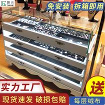 珠寶展示柜飾品柜臺玉器玻璃柜奢侈品展柜烤漆中島柜歐式首飾柜子