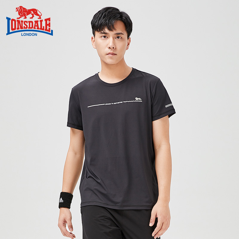 Dragon Lion Dell outdoor light and thin fast dry clothes logo short sleeve T-shirt sports leisure fitness running top summer