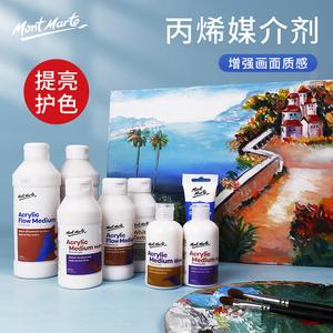 蒙玛特丙烯颜料调和液亮光剂透明