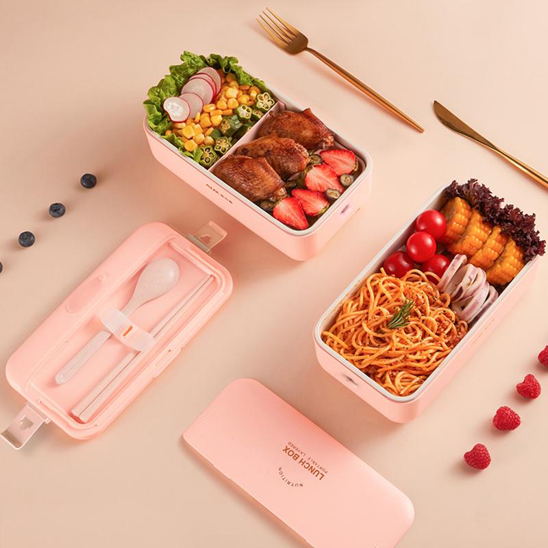 奥克斯加热饭盒可插电保温自热便当盒上班族带饭神器无水电热饭盒