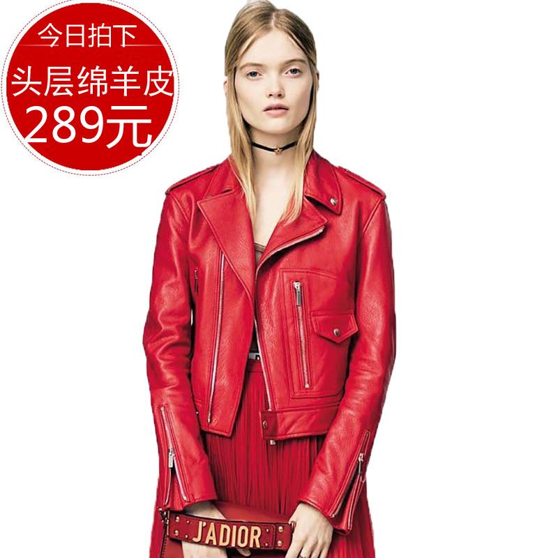 2019 spring and Autumn New Korean slim and versatile leisure locomotive leather jacket womens coat fashion star