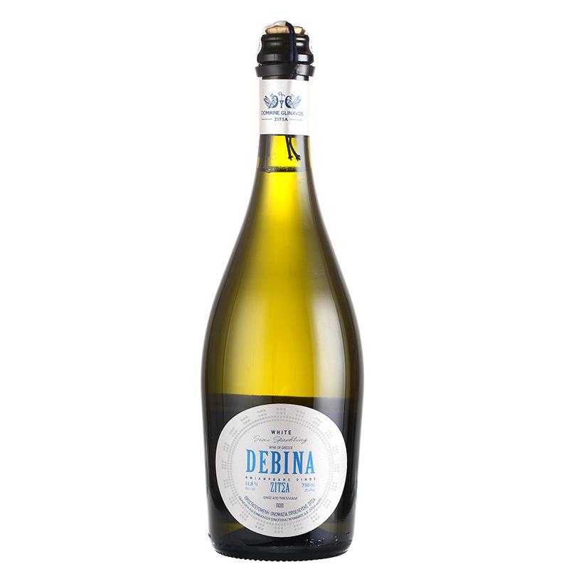包邮 希腊原瓶进口 DEBINA 浓密高泡半干型白起泡