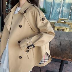 短款风衣女2020春秋新款韩版宽松百搭矮小个子卡其色英伦风外套