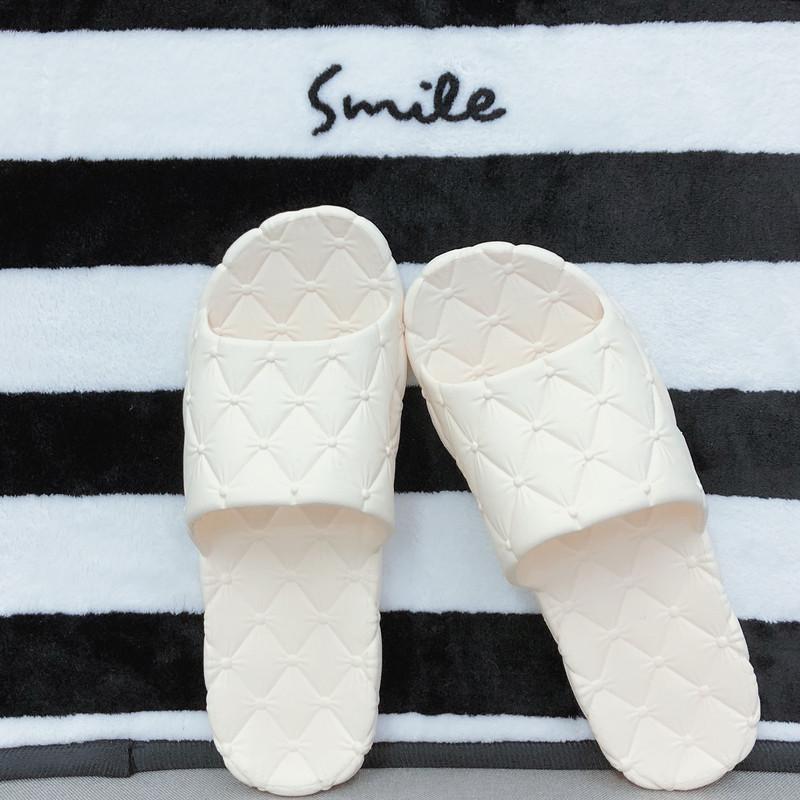 Japanese slippers mens bathroom womens home slippers lovers quiet floor soft massage soft EVA home summer