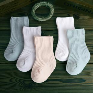 嬰兒襪子春秋冬季鬆口純棉6-12個月初生新生兒中筒薄款寶寶0-3歲1