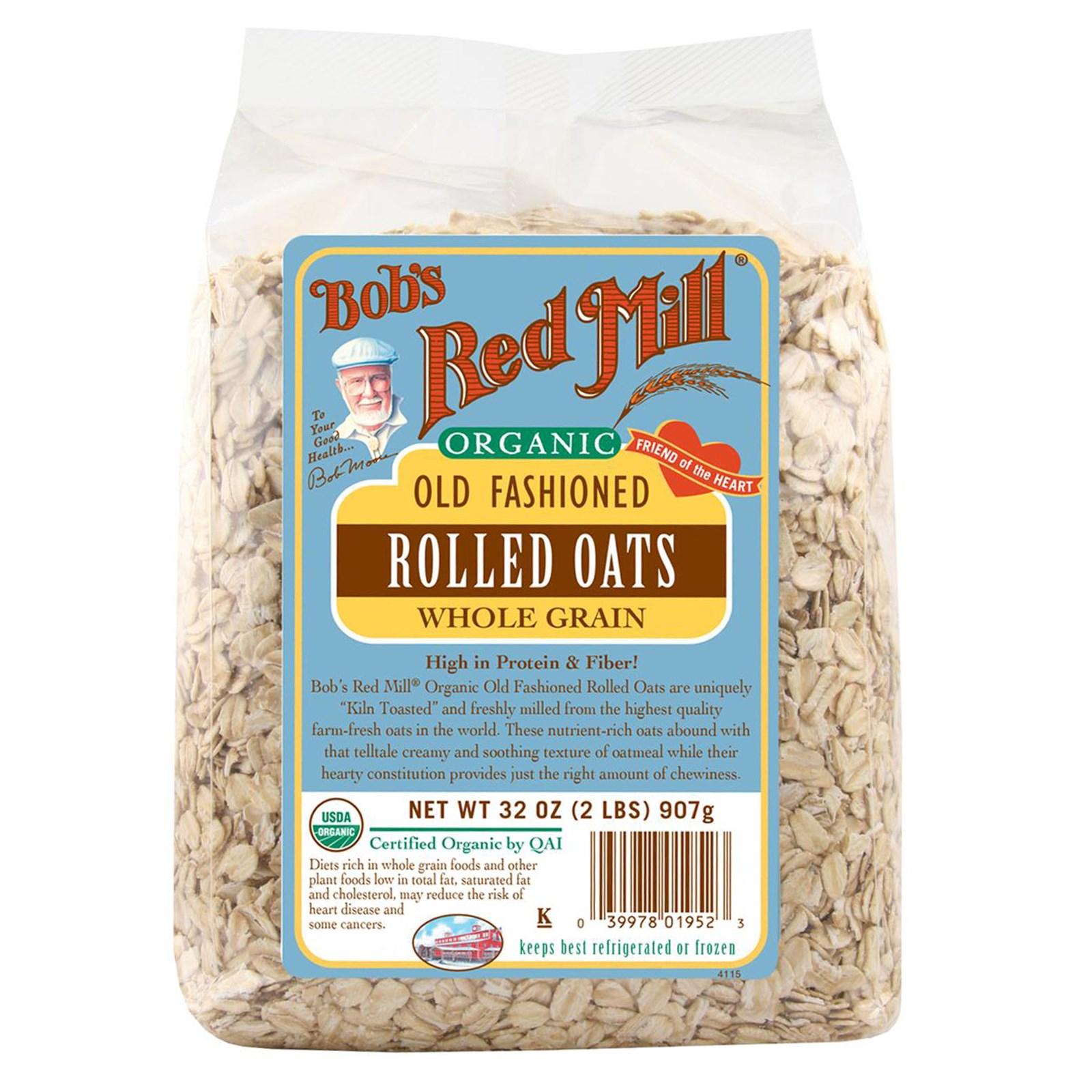 美国 Bob's Red Mill 红磨坊 有/机老式燕麦片 全谷物 907g
