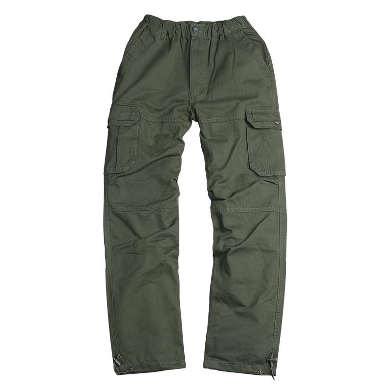 冬季加绒工装裤男宽松加厚潮牌大码直筒多口袋保暖户外运动休闲裤