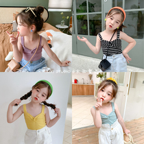 木西童品20夏韩国版女童网红小吊带衫女宝宝可爱无袖小背心上衣
