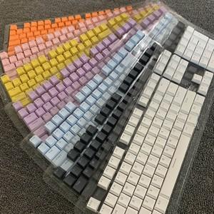 半高原厂高度PBT矮键帽机械键盘樱桃彩色橙色拼色客制化104透光87