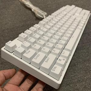 库存全新白色青轴机械键盘黑轴狼蛛104小键盘87键办公室游戏发光