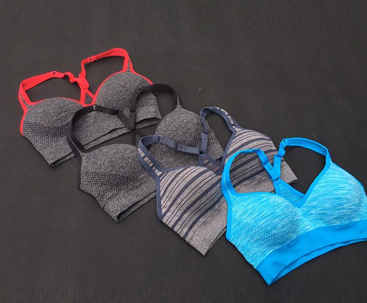固定胸垫运动内衣跑步防震健身聚拢无钢圈运动文胸 运动背心女