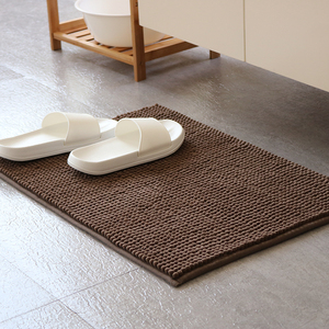 雪尼尔地垫浴室卫生间门口脚垫防滑厕所门垫进门卫浴厨房吸水地毯