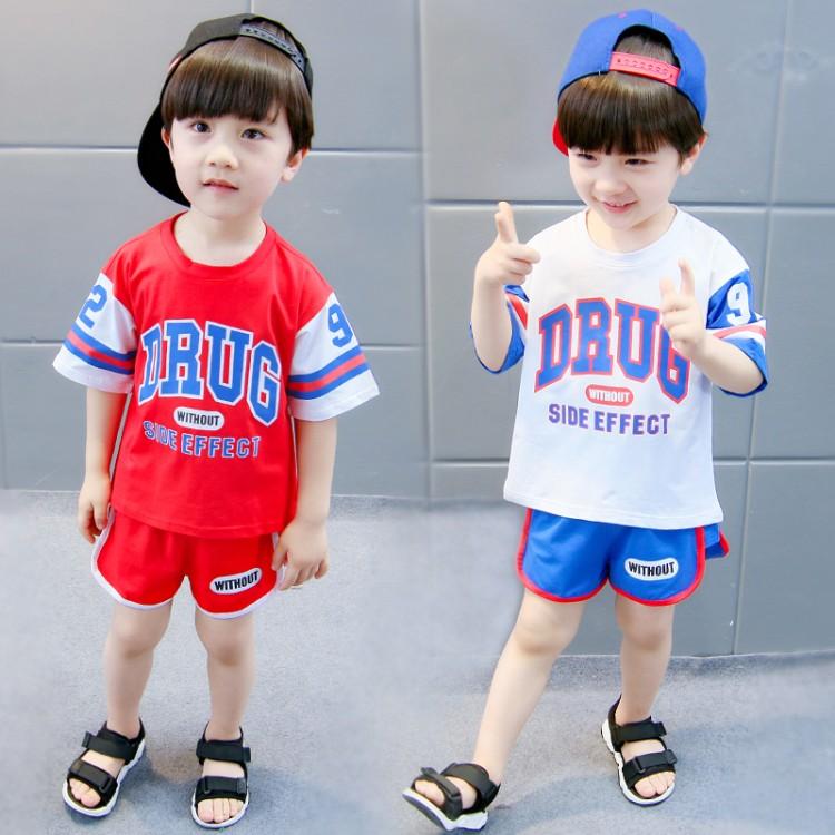 �和�短袖套�b休�e5男童短袖T恤女童夏季2小童新款童�b3�q����夏�b