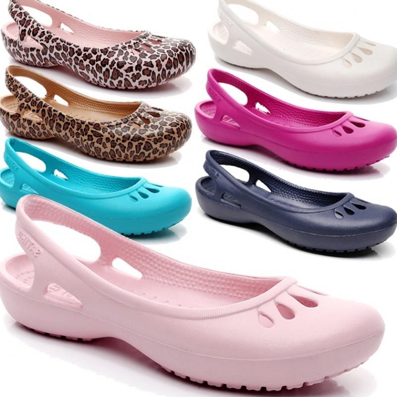 (用20元券)轻便防滑夏季平底护士鞋户外洞洞鞋