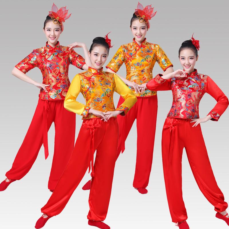 Саженец песня одежда 2017 новый ударные веер танец cheongsam одежда китайский ветер танец женская одежда кадриль производительность одежда