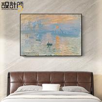 地中海風景手繪油畫玄關豎版裝飾畫印象斑斕面朝大海春暖花開