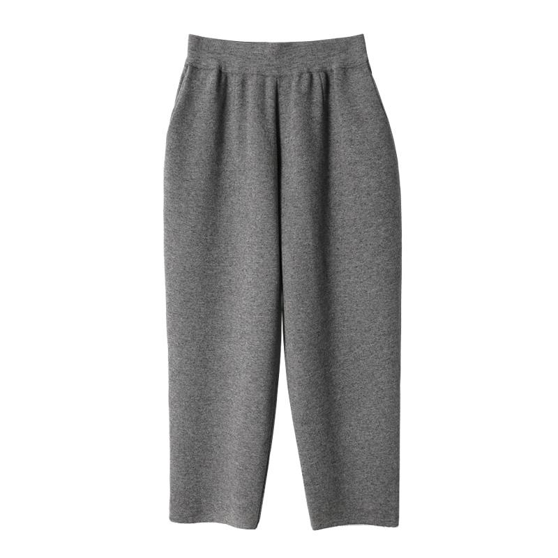XC 又厚又软 贯穿冬天的厚羊毛休闲针织宽松奶奶裤女哈伦裤九分裤